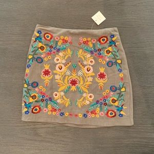 NWT Altar'd State floral embroidered skirt!